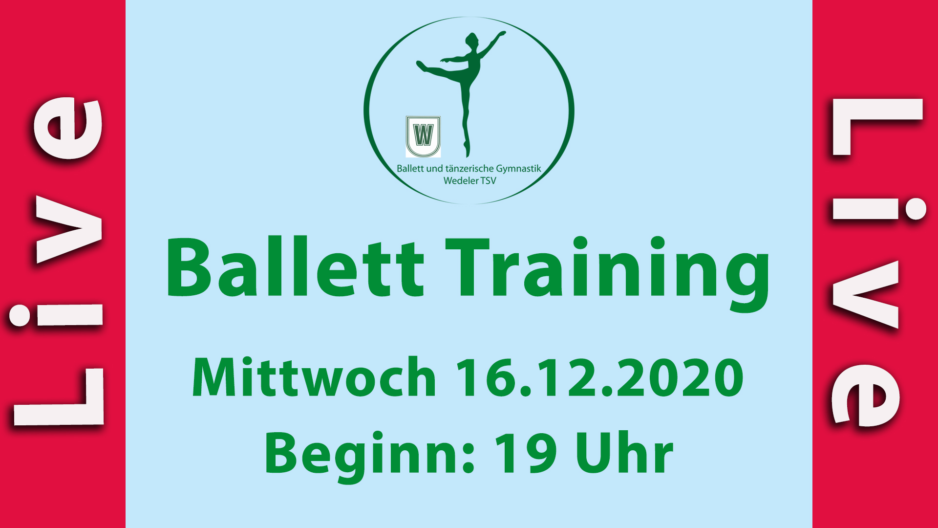 Ballett Training Mi 16.12.2020 LIVESTREAM