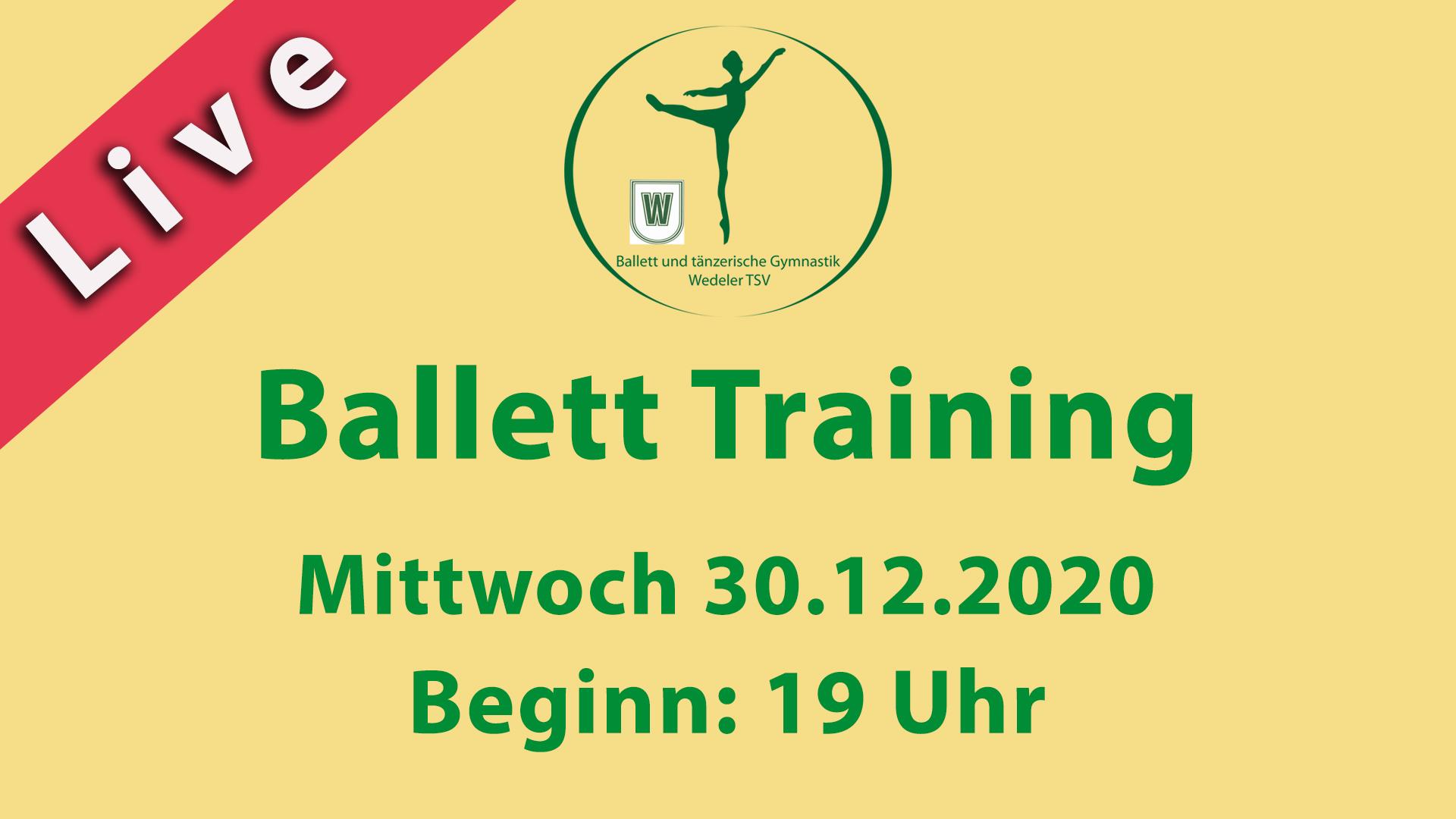 Ballett Training Livestream 30.12.2020