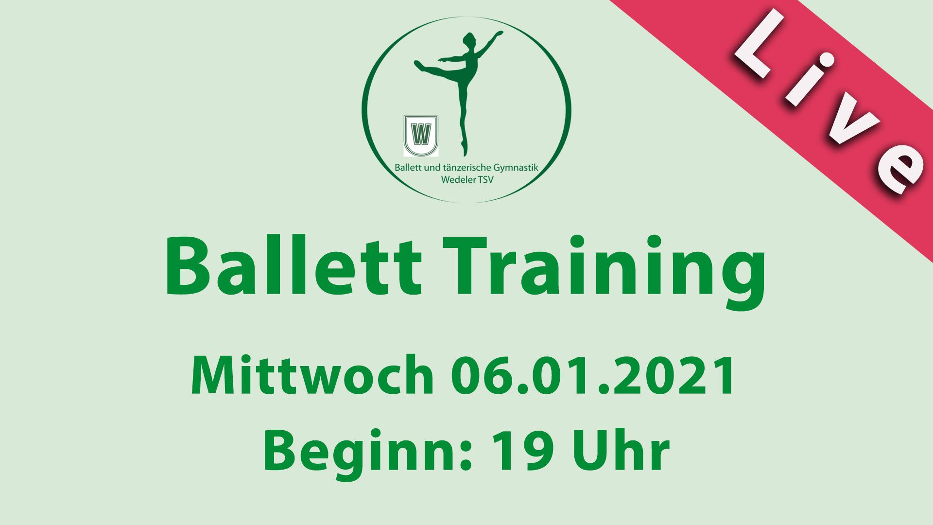 Ballett Training | LIVESTREAM | Mi 06.01.2021 | 19 Uhr