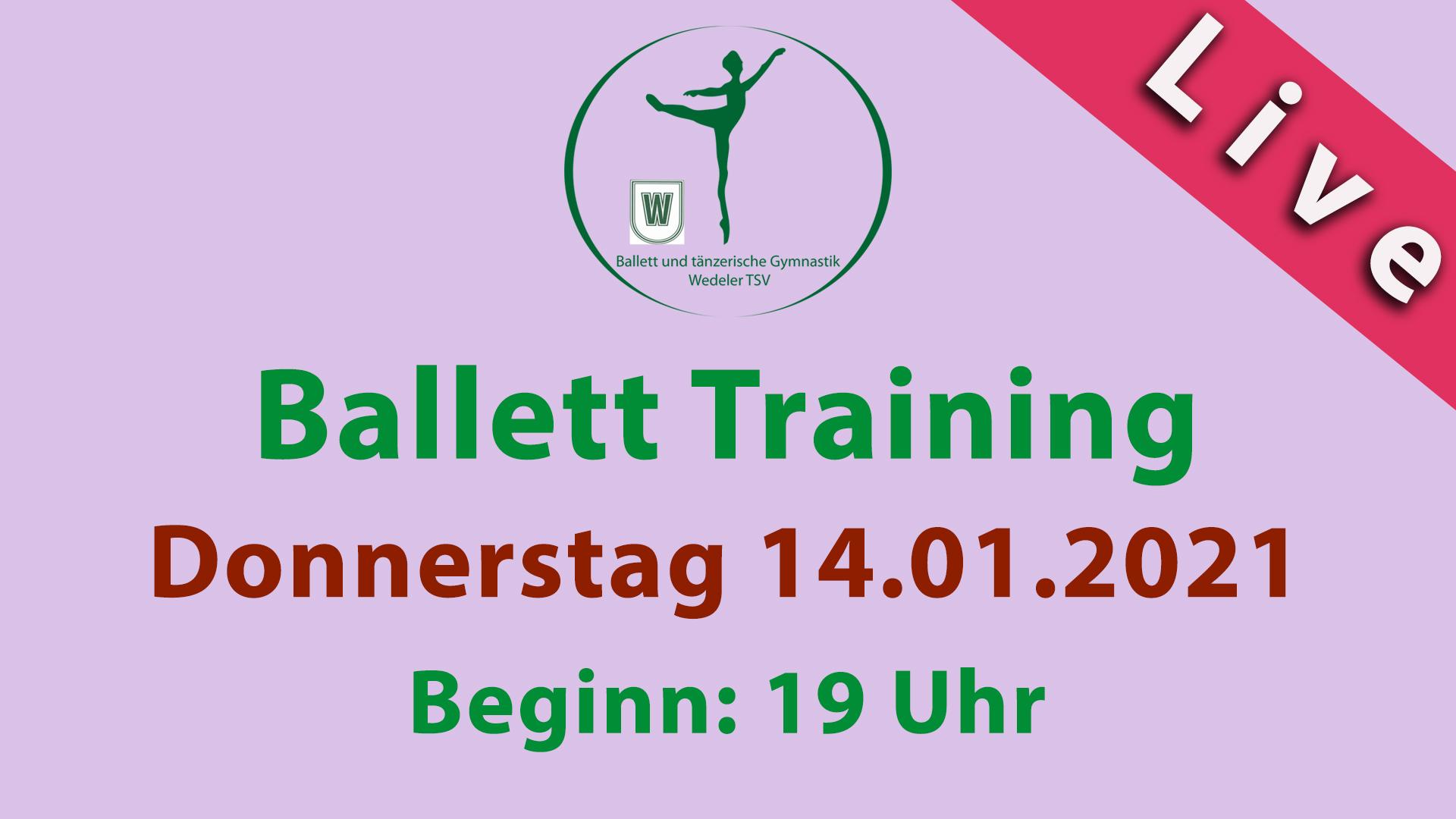Ballett Training Livestream Donnerstag 14.01.2021 | 19 Uhr