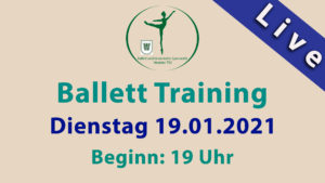 Ballett Training | LIVESTREAM | DI 19.01.2021 | 19 Uhr