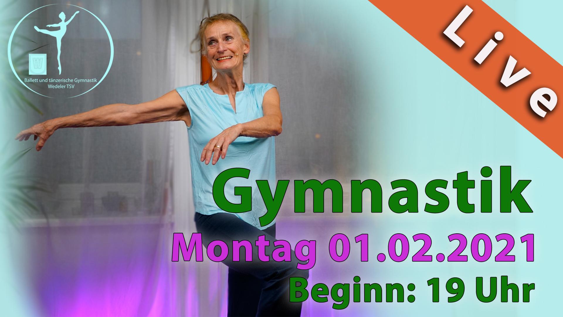 Gymnastik Livestream | Montag 01.02.2021 | 19 Uhr