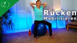 Rückenfit Mobilisation auf dem Gymnastikball