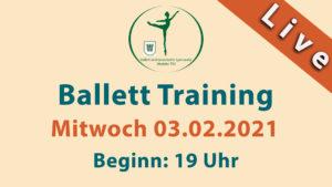Ballett Training Livestream | Mi 03.02.2021 | 19 Uhr