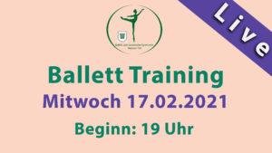 Ballett Livestream | Mi 17.02.2021 | 19 Uhr