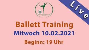 Ballett Livestream | Mi 10.02.2021 Beginn: 19 Uhr