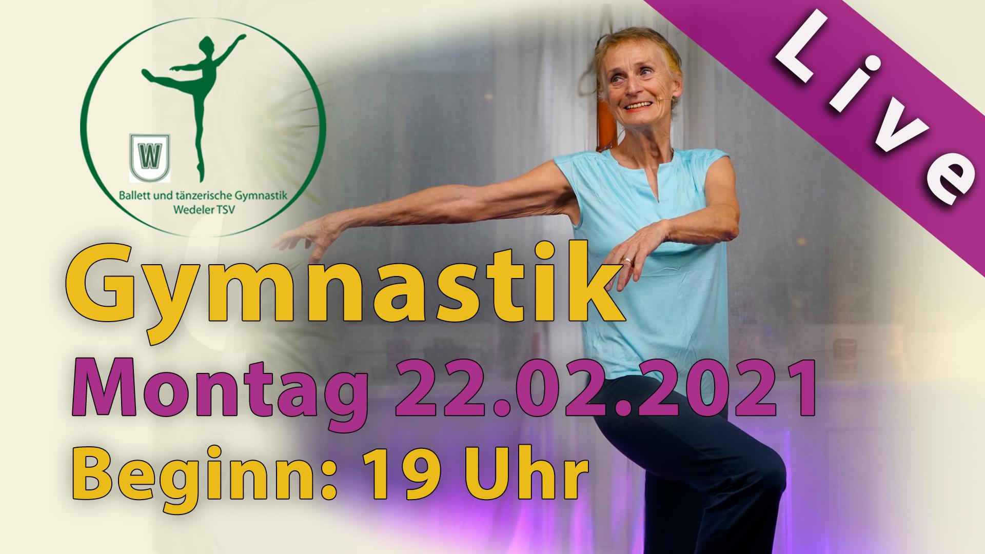 Gymnastik Livestream | Mo 22.02.2021 | 19 Uhr