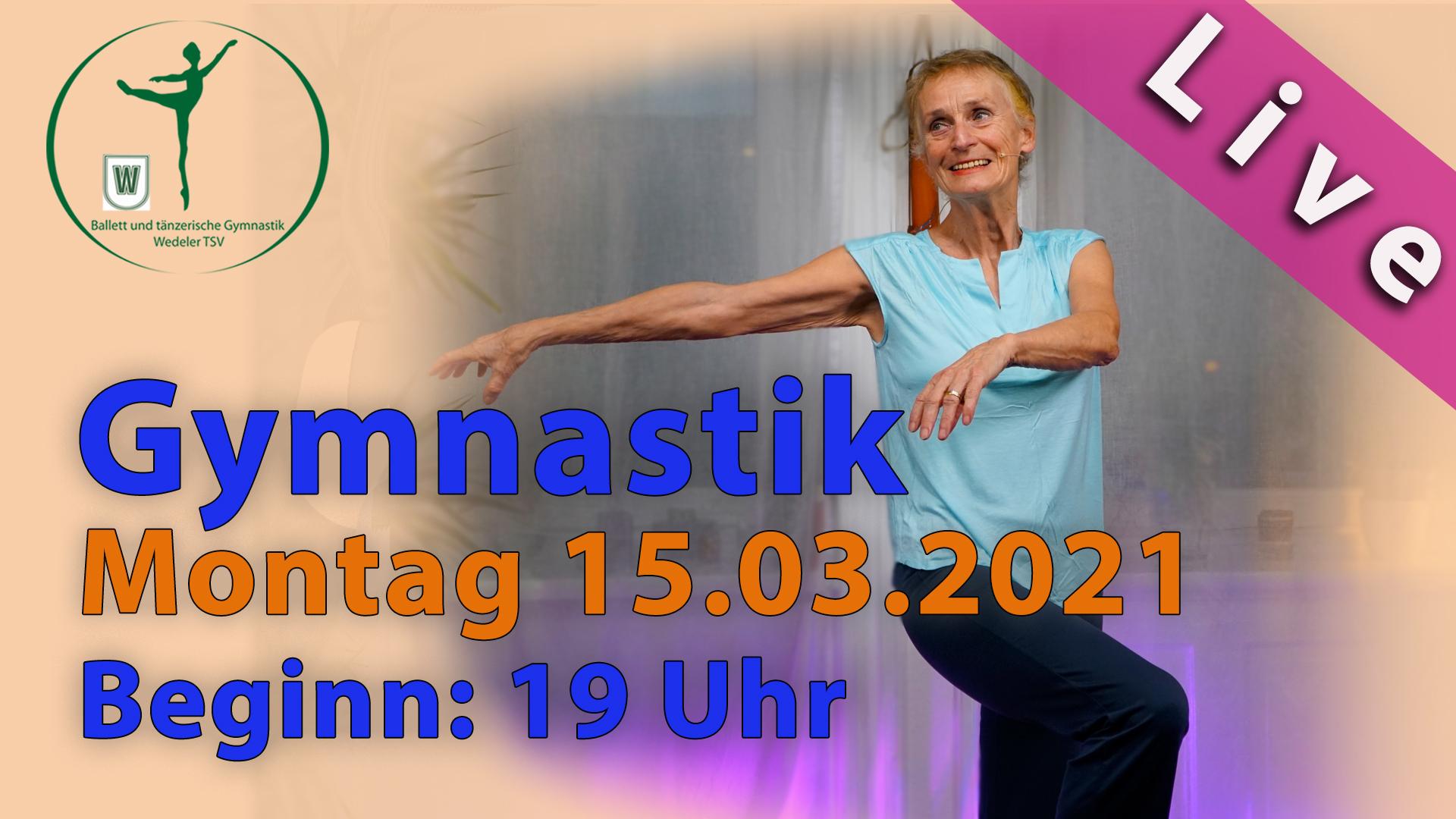 Gymnastik Livestream | Mo 15.03.2021 | 19 Uhr