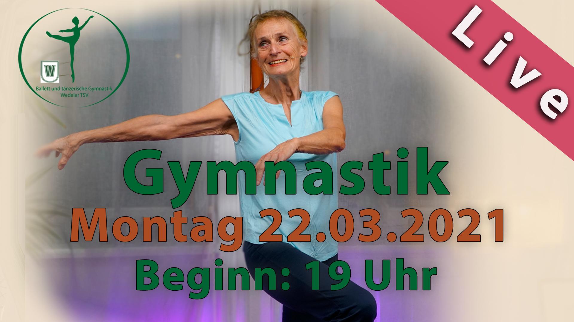 Gymnastik Livestream | Mo 22.03.2021 | 19 Uhr
