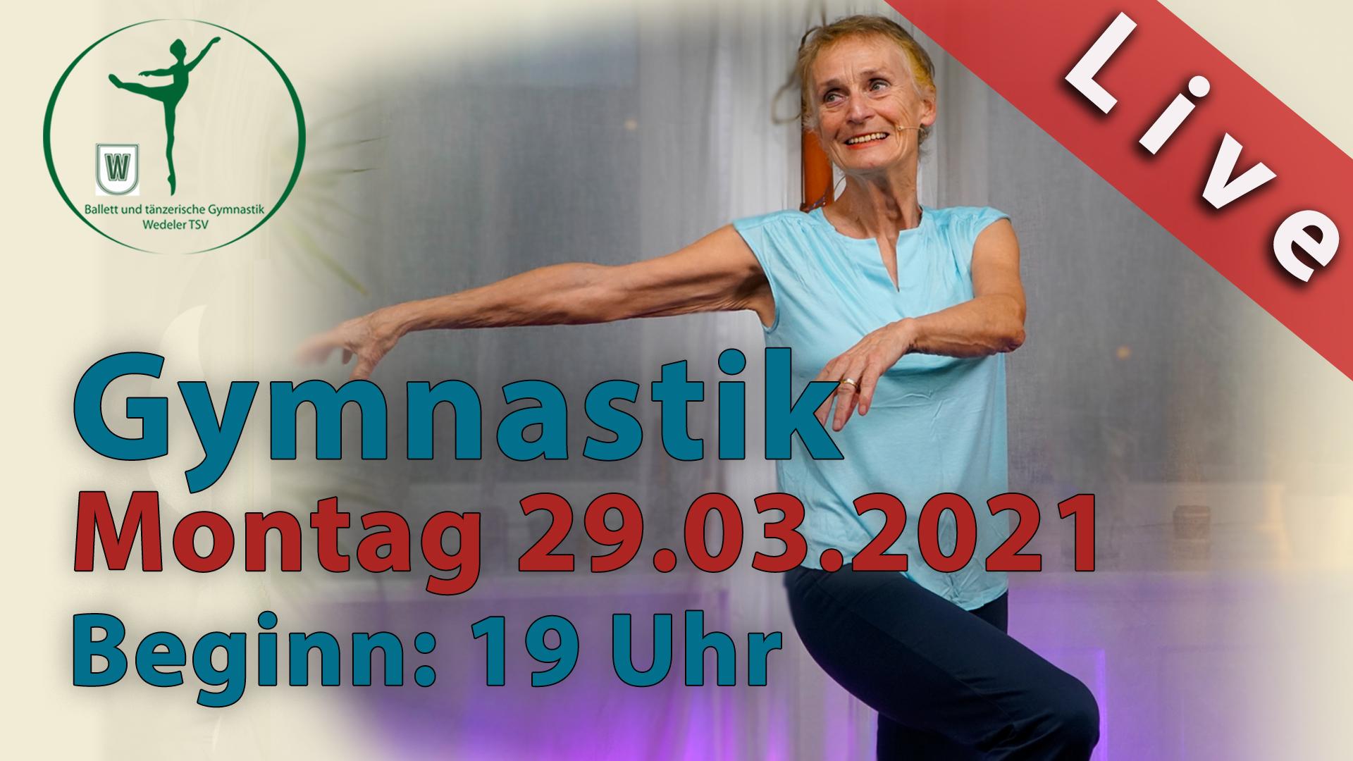 Gymnastik Livestream | Mo 29.03.2021 | 19 Uhr