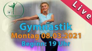 Gymnastik Livestream | Mo 08.03.2021 | 19 Uhr