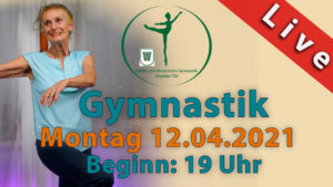 Gymnastik Livestream | Montag 12.04.2021 | 19 Uhr