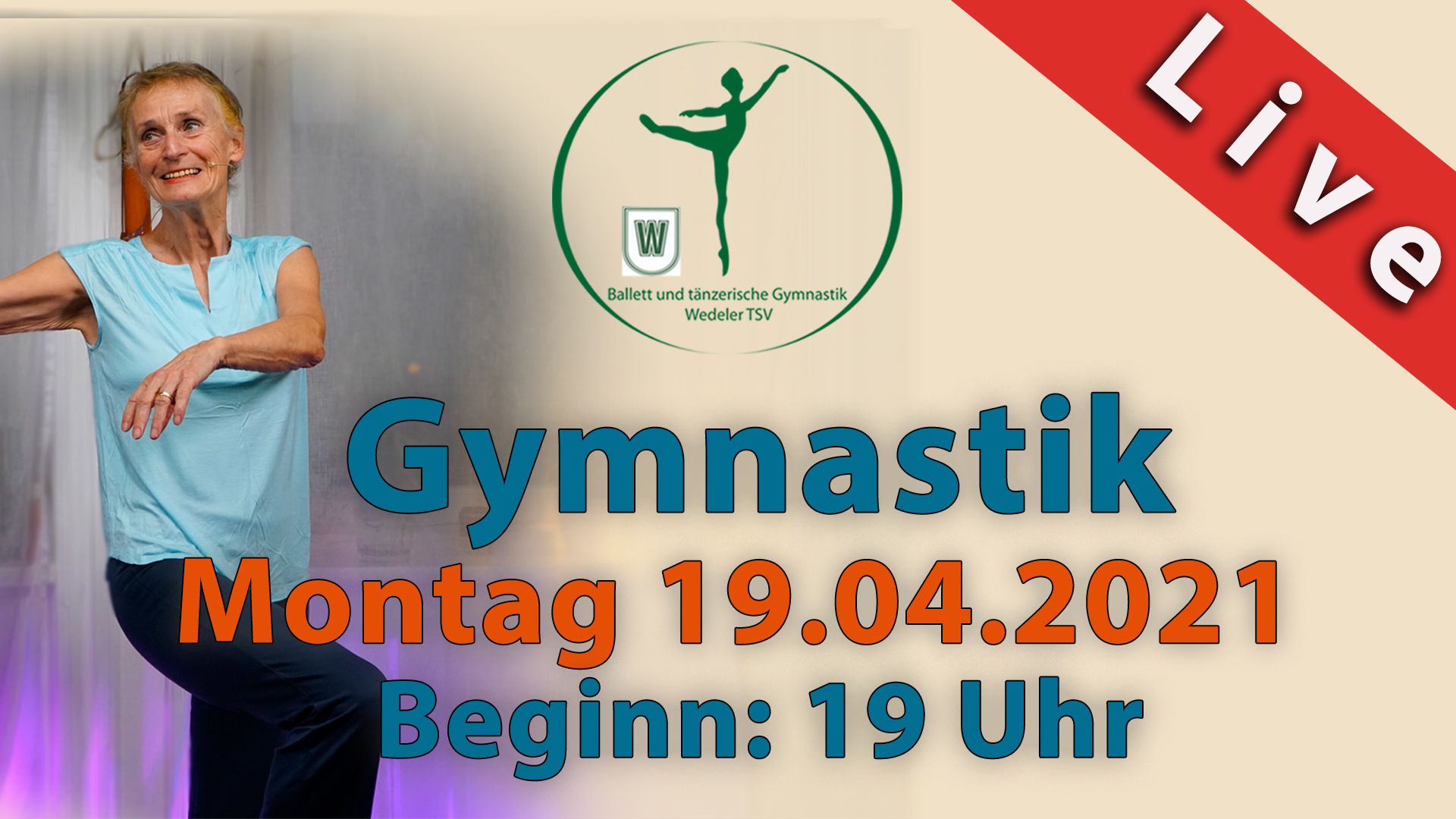 Gymnastik Livestream | Montag 19.04.2021 | 19 Uhr