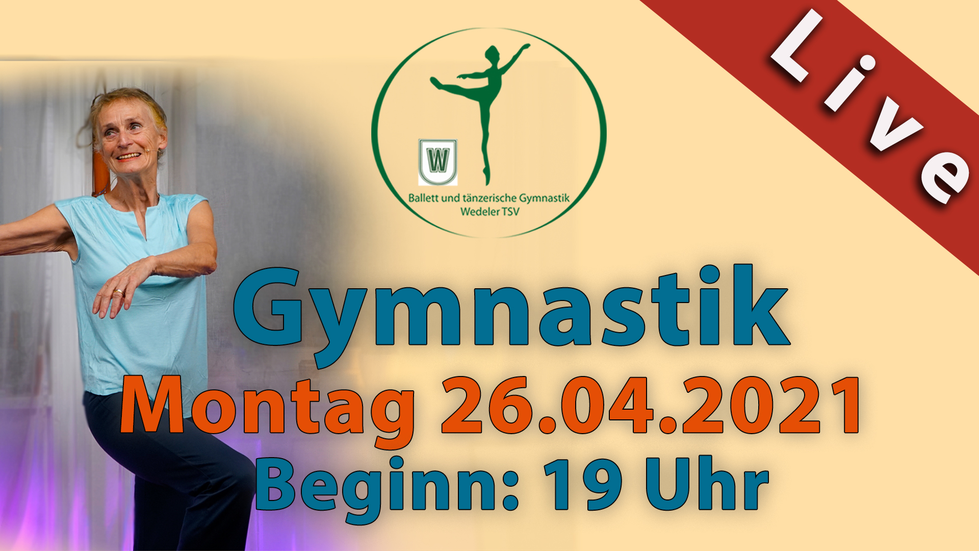 Gymnastik Livestream | Mo 26.04.2021 | 19 Uhr