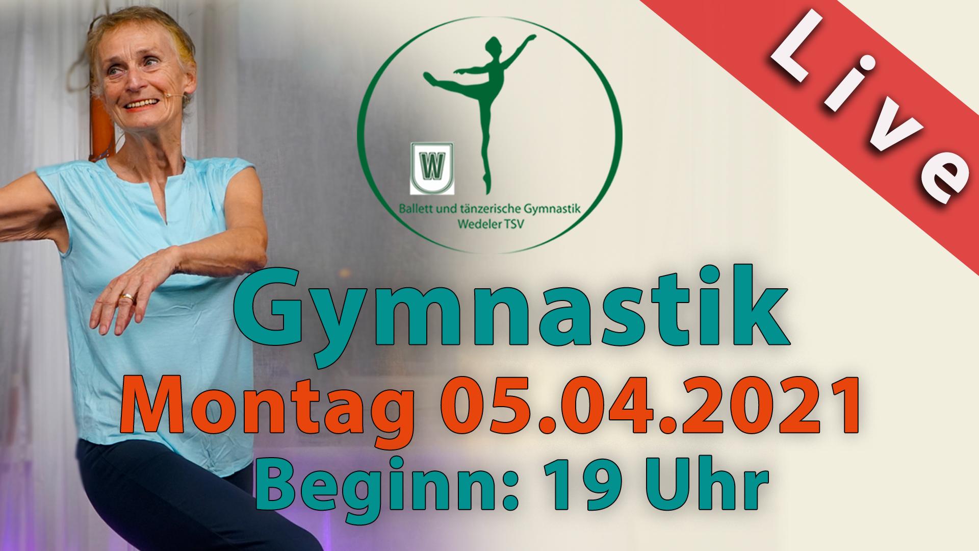 Gymnastik Livestream | Mo 05.04.2021 | 19 Uhr