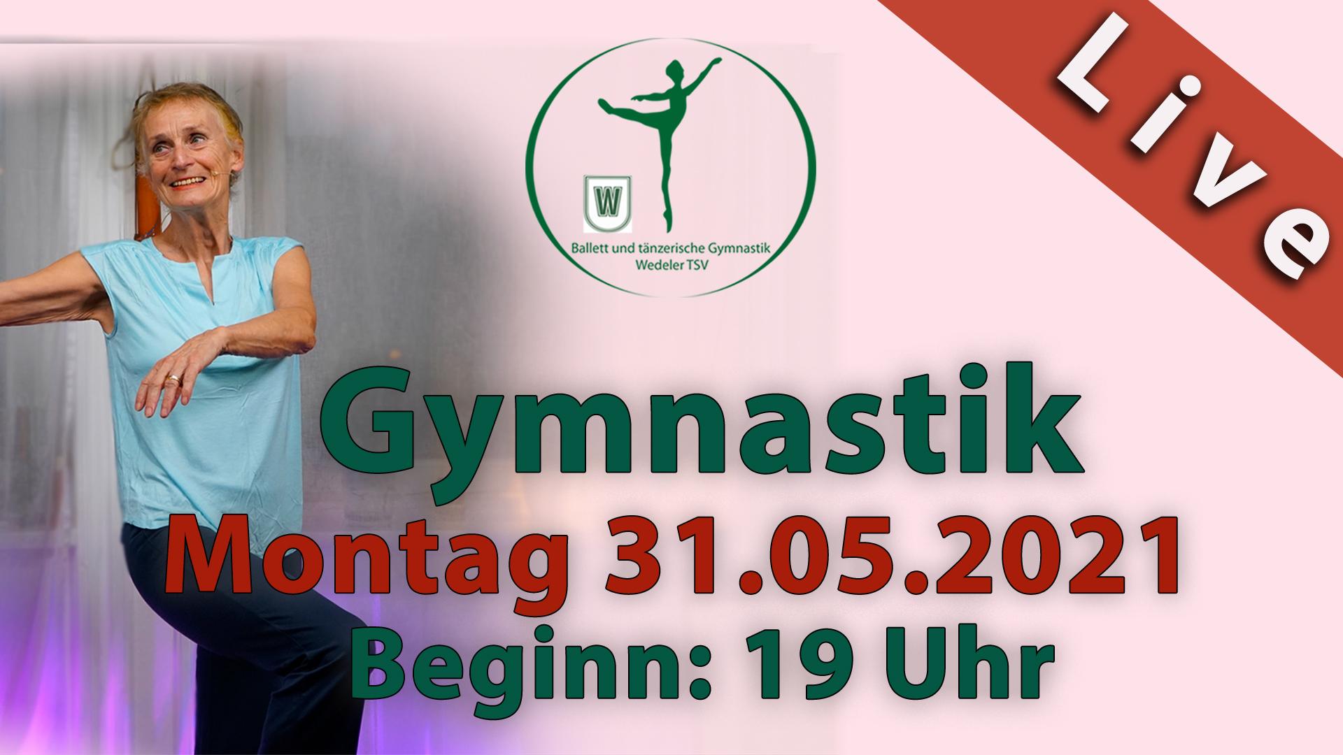 Gymnastik Livestream | Mo 31.05.2021 | 19 Uhr